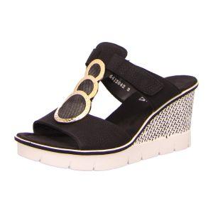 Sandaletten - Rieker - schwarz kombi