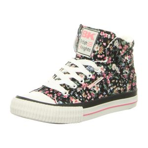 Sneaker - British Knights - Dee - black/pink flower