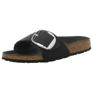 Pantoletten - Birkenstock - Madrid Big Buckle - black