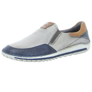 Slipper - Bugatti - Camberra - grey / dark blue