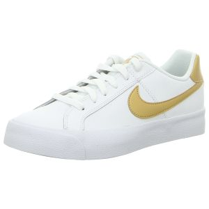 Sneaker - Nike - WMNS Court Royale AC - white/metallic gold