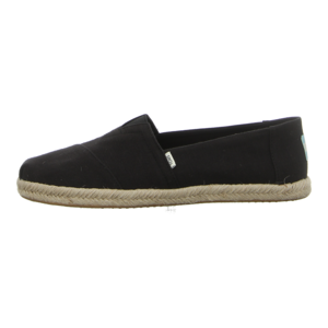 Slipper - TOMS - Alpargata Rope - black slubby