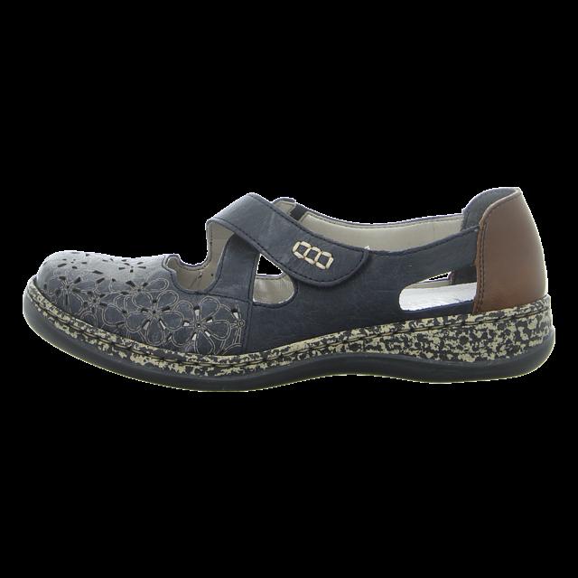Rieker Damen Sandale in blau | Schuhfachmann