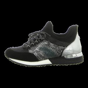 Sneaker - La Strada - combi black + silverglitter