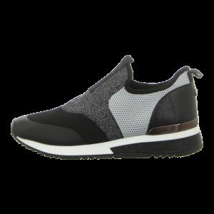 Slipper - La Strada - Sneaker - knitted black silvergrey