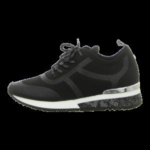 Sneaker - La Strada - black glitter knitted