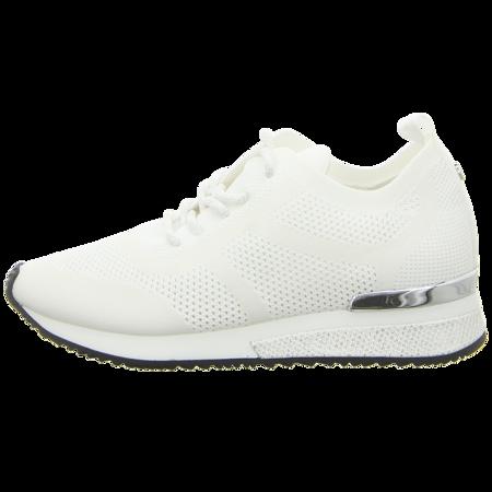 Sneaker - La Strada - white glitter/knitted