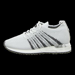 Sneaker - La Strada - white/silver knitted