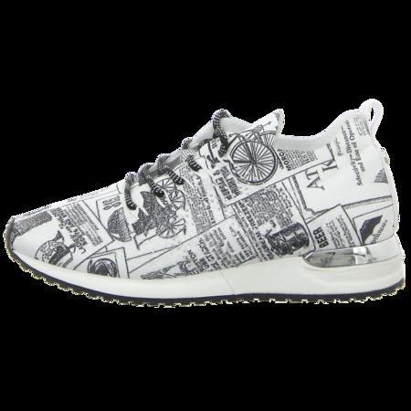 Sneaker - La Strada - white newspaper