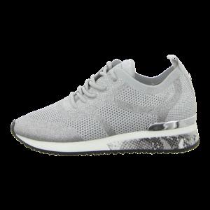 Sneaker - La Strada - silver glitter/knitted