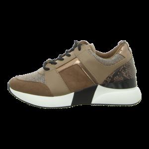 Sneaker - La Strada - taupe micro glitter