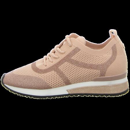 Sneaker - La Strada - peach/glitter/knitted
