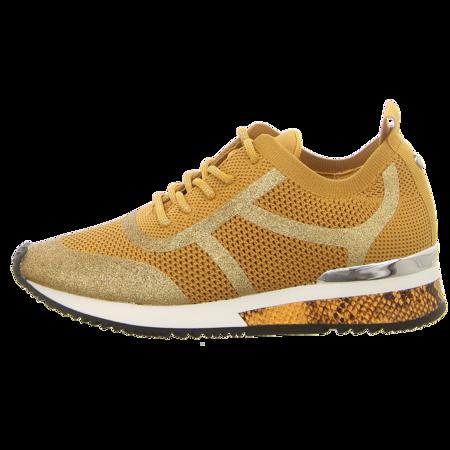 Sneaker - La Strada - ocher knitted