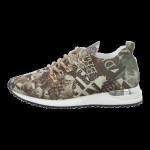 Sneaker - La Strada - brown newspaper