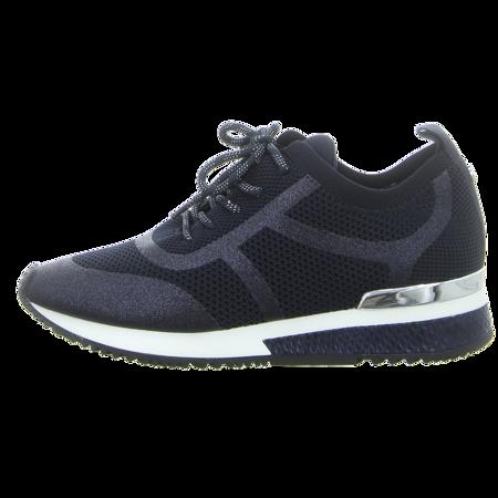 Sneaker - La Strada - blue knitted