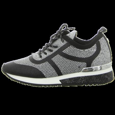 Sneaker - La Strada - silver metallic knitted