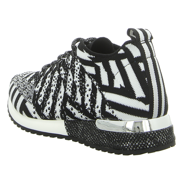 La Strada - 1802649 KNITTED BLACK/WHITE - Laced up knitted Sneaker - black/white knitted - Sneaker