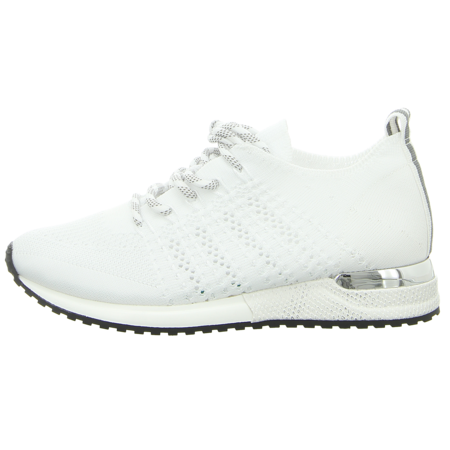 Sneaker - La Strada - Laced up knitted Sneaker - white knitted
