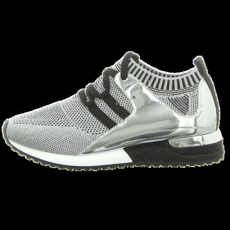 Sneaker - La Strada - silver knitted