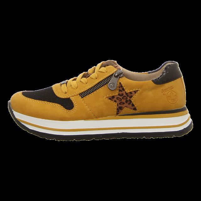 Rieker Damen Sneaker in gelb | Schuhfachmann