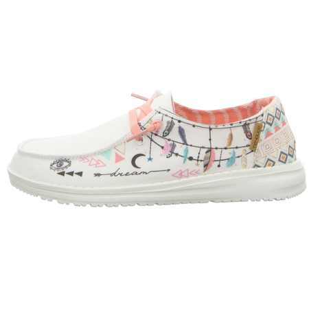Schnürschuhe - Hey Dude - Wendy - doodle star white