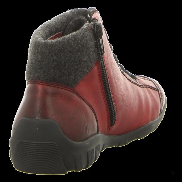 Rieker - L6543-35 - L6543-35 - rot kombi - Stiefeletten