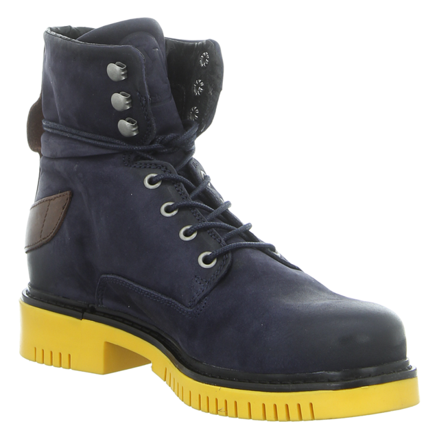 MACA Kitzbühel - 2507 NUBUK NAVY YELLOW - 2507 NUBUK NAVY YELLOW - navy yellow - Stiefeletten
