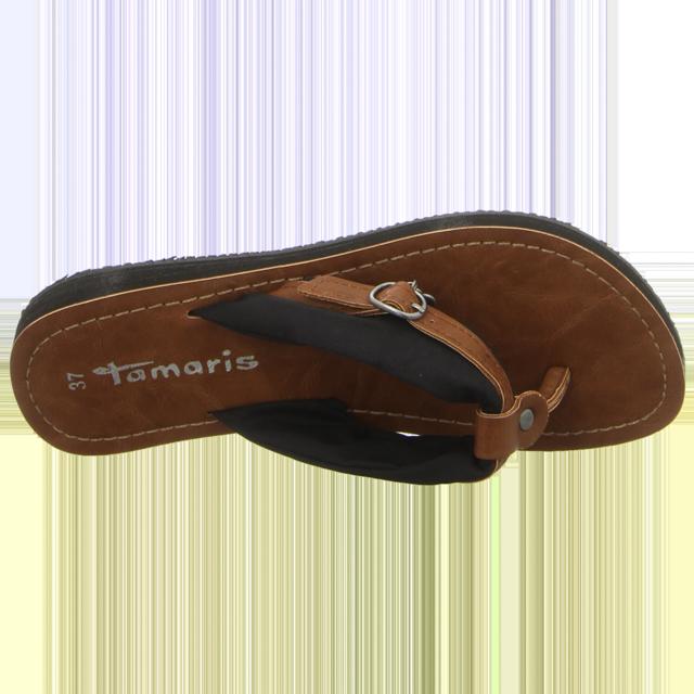 Tamaris - 1-1-27109-20-034 - 1-1-27109-20-034 - black/muscat - Pantoletten