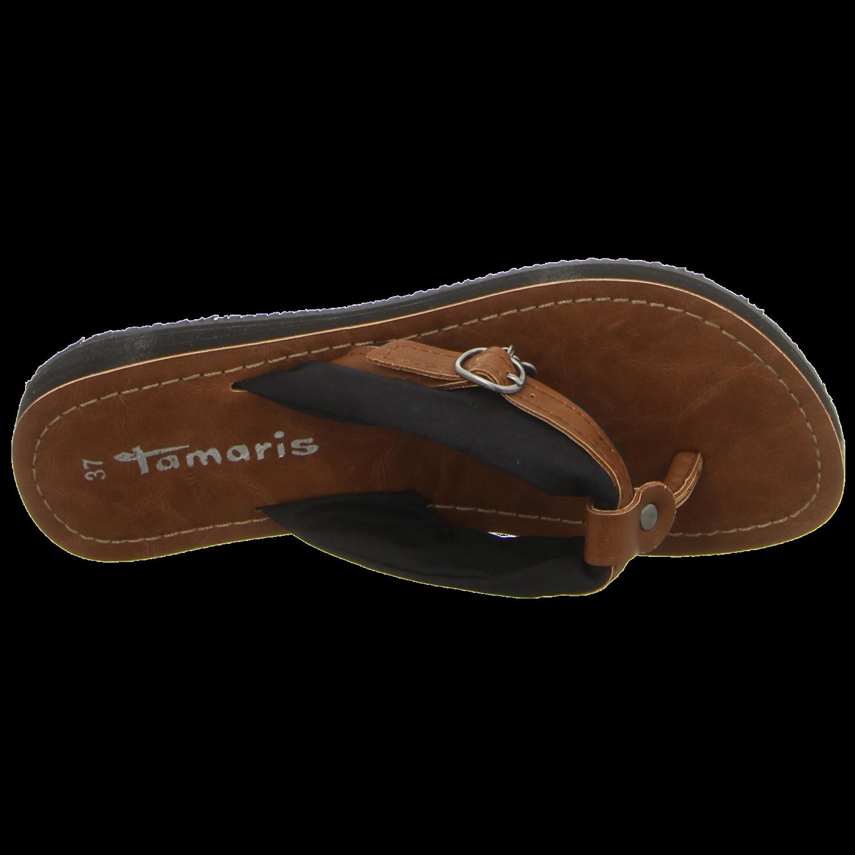 Tamaris - 1-1-27109-28-036 - 1-1-27109-28-036 - black/muscat - Pantoletten