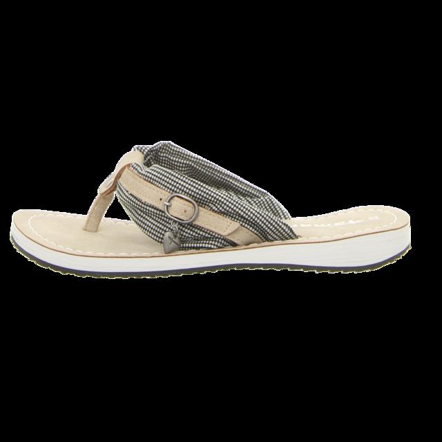 tamaris sandalen black vichy