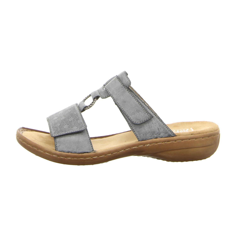 RIEKER Schuhe Sandalen Riemchen Sandaletten Flats braun beige NEU