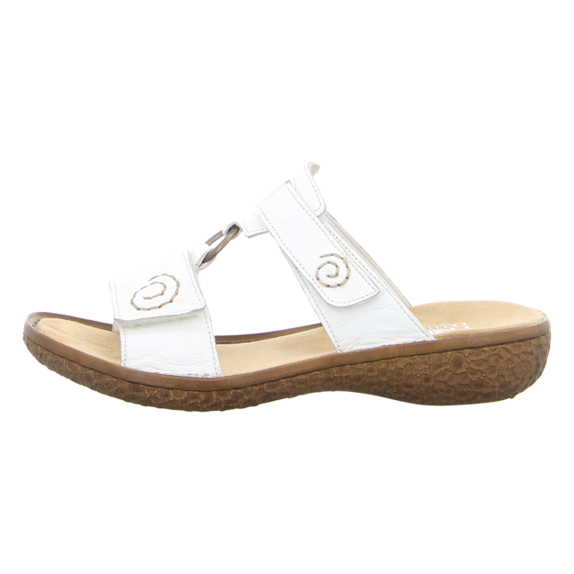 Rieker Damen Pantoletten Weiß | Trendbereich