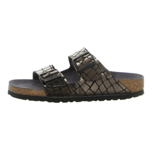 Pantoletten - Birkenstock - Arizona BS - gator gleam black