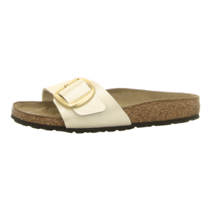 Pantoletten - Birkenstock - Madrid Big Buckle - graceful pearl white