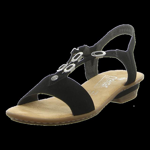 Rieker Damen Sandalette in schwarz   SALE Schuhfachmann