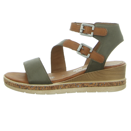Sandaletten - Remonte - grün kombi