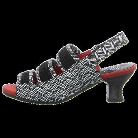 Sandaletten - Simen - schwarz/rot