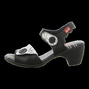 Sandaletten - Clamp - Latisha - black / print