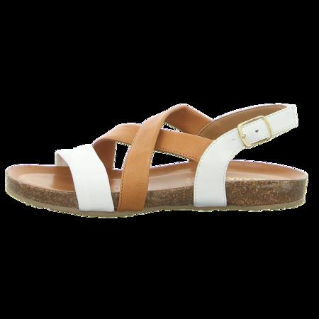 Sandaletten - Markó - bianco/brandy