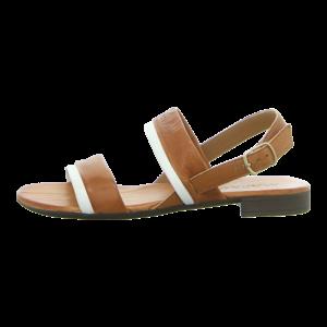Sandaletten - Markó - brandy/bianco