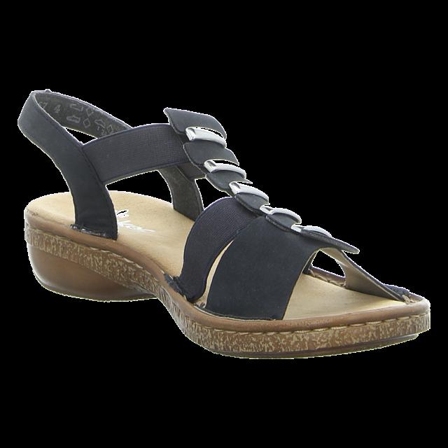 Rieker Damen Sandalette in blau   Schuhfachmann FYU3m