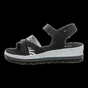 Sandalen - Rieker - schwarz kombi