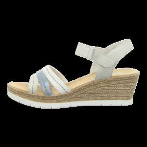 Sandaletten - Rieker - weiss kombi