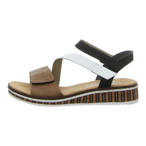 Sandaletten - Rieker - beige kombi
