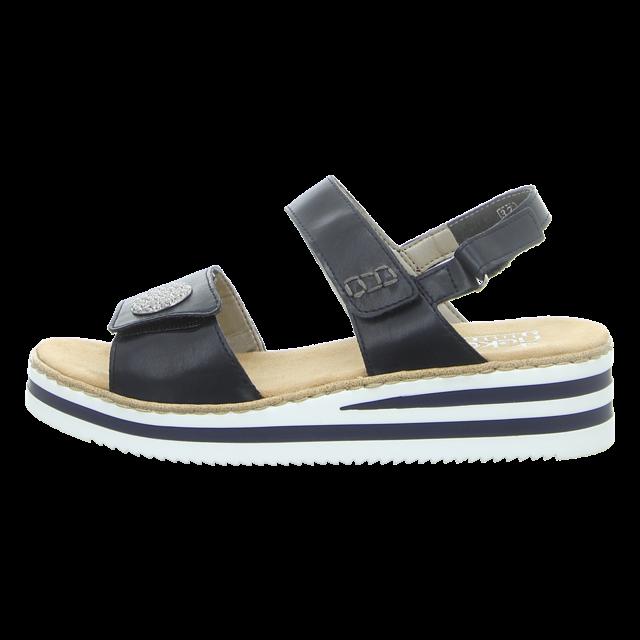 Rieker Damen Sandalette in blau | Schuhfachmann