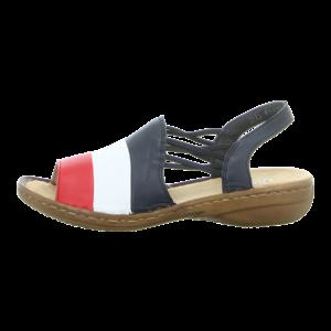 Sandaletten - Rieker - blau kombi