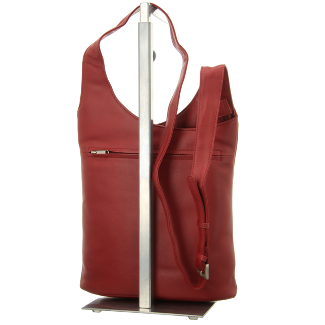 Voi Leather Design - 10300 GRANAT - Crossover - granat - Handtaschen