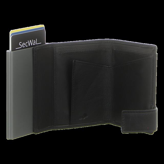 SecWal - SW2-01 SCHWARZ - Kartenetui mit Geldbeutel Dk - schwarz - Geldbörsen