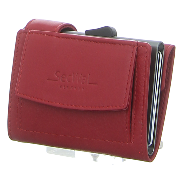 SecWal - SW2-07 ROT - Kartenetui mit Geldbeutel Dk - rot - Geldbörsen
