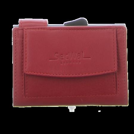 Geldbörsen - SecWal - Kartenetui mit Geldbeutel Dk - rot